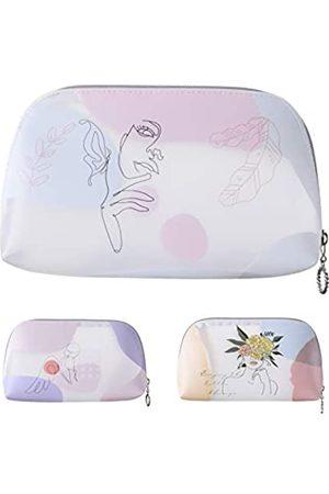 Prite Transparente Make-up-Tasche mit Reißverschluss, Reise-Kosmetik-Organizer für Frauen und Mädchen, wasserdichte Make-up-Tasche für Kulturbeutel, Zubehör