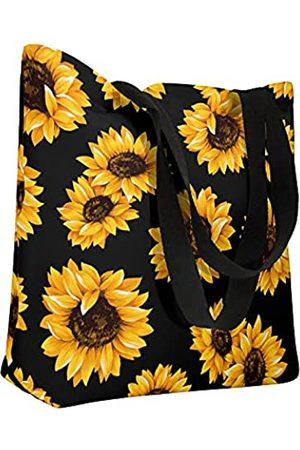 Depoga Große bedruckte Strandtasche für Damen, wasserdichte Turnbeutel mit Innentaschen Reißverschluss für Reisen, Strand, Fitnessstudio