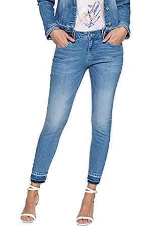 ATT Damen Slim Fit Jeans Mit Aufgesteppten Bändern An Den Gürtelschlaufen Leoni Basic Offene Kante Slim Fit Jeans Slim Fit Used Leoni