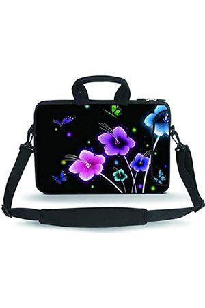 "HAPLIVES 11-13.3"" Neoprene Sleeve Notebook Messenger Case Tote Bag(Colorful Flowers)"
