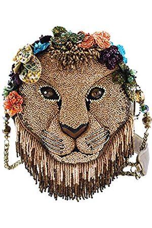 MARY FRANCES Girl Pride Handtasche mit Perlen und Löwenmotiv