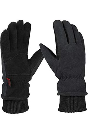 OZERO Herren Handschuhe - Winterhandschuhe, winddicht, echtes Hirschleder