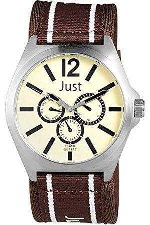 Just Watches Herren Analog Quarz Uhr mit Textil Armband 48-S3927-CR