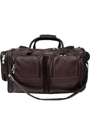 Piel Reise Reisetasche, mit Seitentaschen und Rollen in Schokobraun