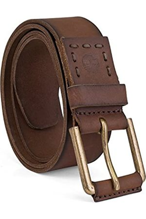 Timberland Men's Big and Tall Casual Leather Belt, Brown