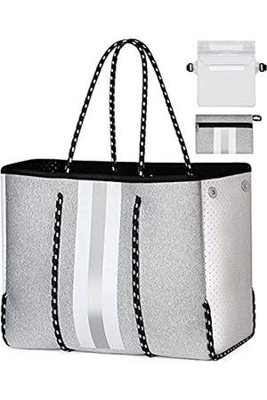 IBFUN Damen Handtaschen - Strandtasche, Reisetasche, Neopren, für Sommer, Fitnessstudio, Strand, Pool, (Ab2-Neopren, und )