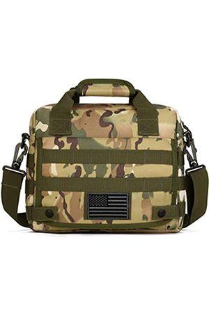 Protector Plus Taktische Kuriertasche für Herren, Militär-Stil, MOLLE-Schultertasche, mit Flicken