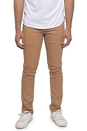 VICTORIOUS Herren Skinny Fit Color Stretch Jeans - Braun - 32W / 32L