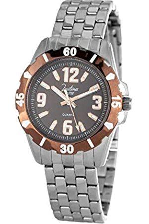 JUSTINA Analog Quarz Uhr mit Edelstahl Armband JPM09