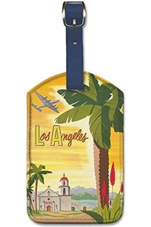 Pacifica Island Art Leatherette Luggage Baggage Tag - Los Angeles by Bob Smith