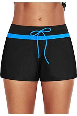 Century Star Women Boyshorts Swimming Bottom Stretch High Waist Drawstring Tankini Swimsuit Swim Shorts XX-Large US 14-16