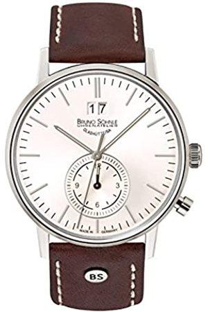 Soehnle Bruno Söhnle Herren Analog Quarz Uhr mit Leder Armband 17-13180-247