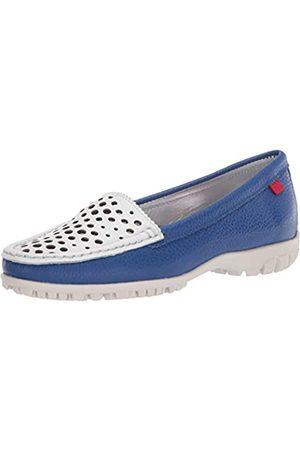 Marc Joseph New York Damen Golf-Schuh, Leder Made in Brazil Luxus mit verporiertem Vamp, (Royal Blue/White Tumbler)
