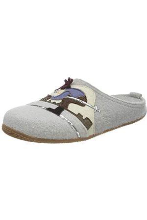 Living Kitzbühel Damen Pantoffel Skifahrer mit Fußbett Hausschuh