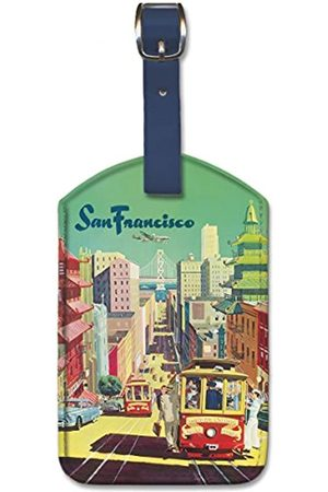 Pacifica Island Art Leatherette Luggage Baggage Tag - San Francisco by Klein