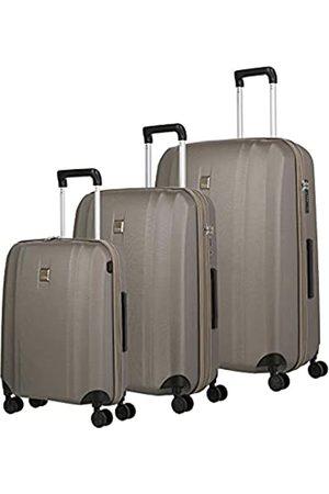Titan 4-Rad Koffer Set Hartschale Größen L/M/S mit TSA Schloss, Gepäck Serie XENON: Kratzfeste Hartschalen Trolleys im zeitlosen Design