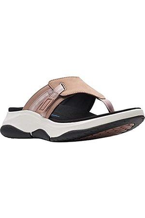 Clarks Herren Schuhe - Wave2.0 Sea. Dusty Pink Leather/Nubuck Combi 9 B (M)