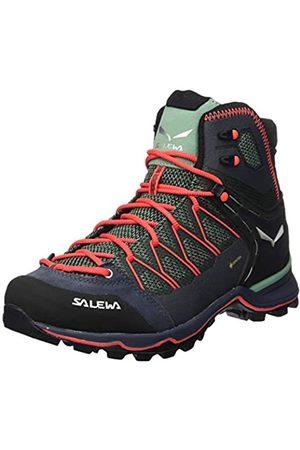 Salewa Damen WS Mountain Trainer Lite Mid Gore-TEX Trekking-& Wanderstiefel, Feld Green/Fluo Coral