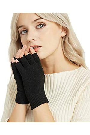 Novawo Damen kaschmir-wolle-mischung fingerlose handschuhe warm armlinge freesize