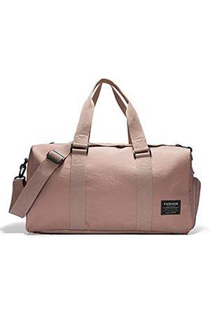 RoLekim Turnbeutel mit Schuhfach Sporttasche Reisetasche Duffel Bag für Damen und Herren Wasserdicht (Pink) - RK02