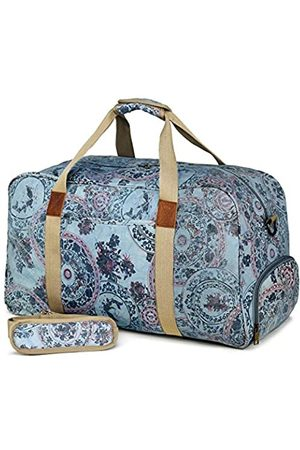 Kemy's Canvas Duffle Bag Women Overnight Weekender Bag Oversized Ladies Weekend Carryon Duffel Large - KM8020T-3