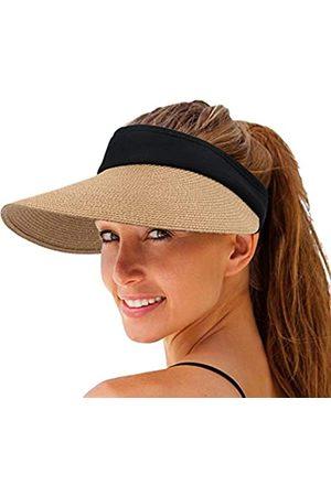 Shinenut Sonnenhut für Damen, Strohhut mit breiter Krempe, UV-Schutz, faltbar
