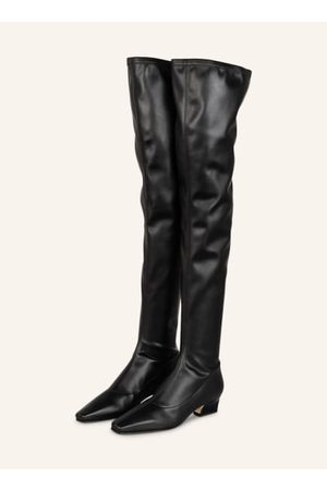 PARIS TEXAS Glattleder. Karree-Form. Blockabsatz mit Animal-Prägung. Made in Italy. - Schaftweite: 64 cm- Schafthöhe: 71 cm- Absatzhöhe: 4,5 cm