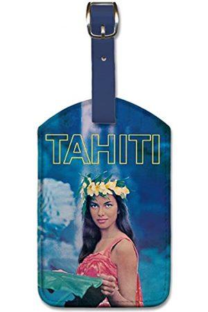 Pacifica Island Art Gepäckanhänger aus Kunstleder – Tahiti