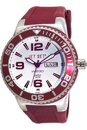 JET SET Unisex Analog Quarz Uhr mit Gummi Armband J55454-07_RED