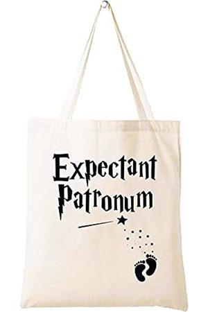 LIBIHUA Expectant Patronum – Geschenk für werdende Mütter – lustiges Mutter-Schwangerschafts-Ankündigungs-Geschenk – Geschenk für werdende Mütter – Schultertasche Einkaufstasche Tragetasche Geschenk