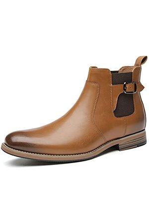 JORDI GIGO Chelsea Boots zum Reinschlüpfen für Herren – formelle Stiefel und modische Herren-Stiefeletten in , (Brown3)