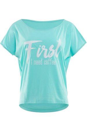 Winshape Damen Shirts - Oversize-Shirt »MCT002 ultra leicht« mit weißem Glitzer-Aufdruck