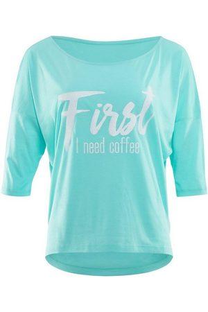 Winshape Damen Shirts - 3/4-Arm-Shirt »MCS001 ultra leicht« mit weißem Glitzer-Aufdruck