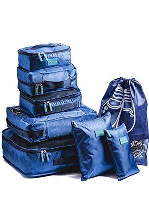 HOMYLUXE Packing Cubes 7 Stück Reise-Kleiderschrank Aufbewahrung Organizer mit Schuhbeutel