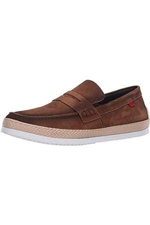 Marc Joseph New York Herren Leder-Schuhe mit Penny-Seil Detail Boot, Braun (Hellbraunes Nubuk)