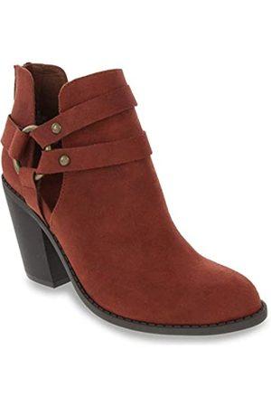Rampage Stiefel für Damen, Stiefelette mit Aussparungen, Weinberg-Design, Rot (rust)