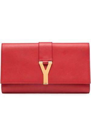 Yves Saint Laurent Damen Clutches - Clutch mit Logo-Schild