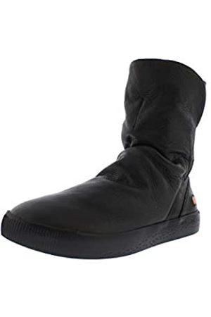 softinos Damen Boots SHAZ614SOF, Frauen Stiefel,lose Einlage, Boots lederstiefel Freizeit, (Black)