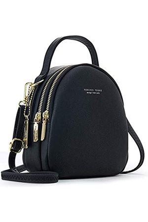 Q QICHUANG Niedlicher Mini-Rucksack für Damen, PU-Leder, Crossbody-Tasche, modisch, kleine Geldbörse, leicht, Reise-Schultertasche