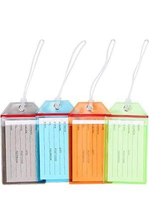 wutup Premium Gepäckanhänger, Reisezubehör, flexible farbige PVC-Reiseetikettene Gepäckanhänger, Reisegürtel, Zubehör, ID-Tags, Identifikations-Etiketten