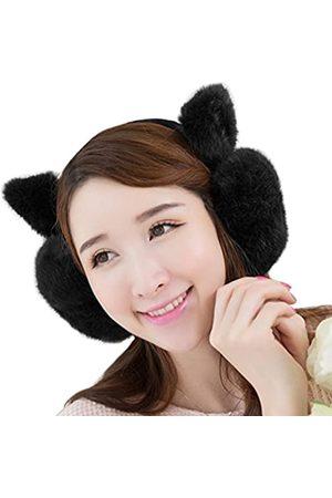 MioCloth Ohrenschützer für den Winter, niedliche Katze, Kätzchen, Kunstfell, Plüsch