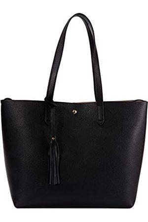 Baginning Damen-Handtasche aus echtem Leder, mit Fransen, Tragegriff oben, Schultertasche