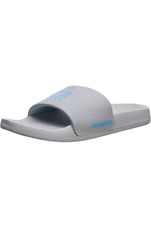 Iron Man Women's Makai Slide Sport Sandal, Light Grey/Sky Blue