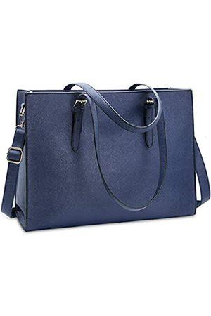 NUBILY Laptoptasche für Damen Wasserdicht Leicht Leder 15