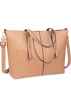 NEWHEY Laptop Tote Bag for Women 15.6 Inch Waterproof Lightweight Leather Computer Laptop Bag Women Business Office Work Bag Briefcase Large Travel Handbag Shoulder Bag