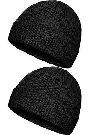 SATINIOR 2 Stücke Winter Warme Mütze Hut Strickmanschette Hüte für Männer Tägliches Tragen
