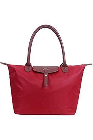 Pure Beauty Wasserfeste Nylon-Tragetasche, Schultertasche, Strandtasche, wasserdichter Griff, Handtasche, Laptop-Tasche, (weinrot)