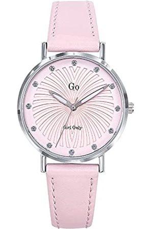 GO Girl Only Damen Analog Quarz Uhr mit Leder Armband 698780