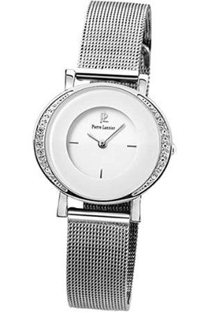 Pierre Lannier 013 K608 Damen-Armbanduhr 045J699 Analog Armband Milanaise Stahl – Strass