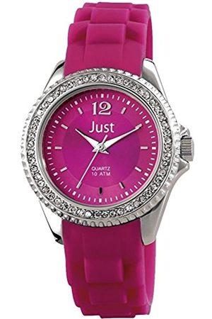 Just Watches Damen Analog Quarz Uhr mit Kautschuk Armband 48-S3858-DPR